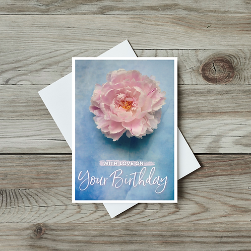 With Love on Your Birthday Card - Paper Birch Art