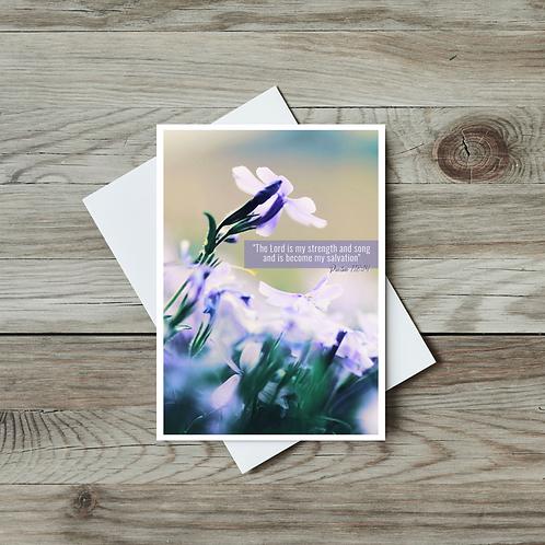 Psalm 118 Bible Verse Card - Paper Birch Art