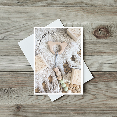 Welcome Baby Greeting Card - Paper Birch Art