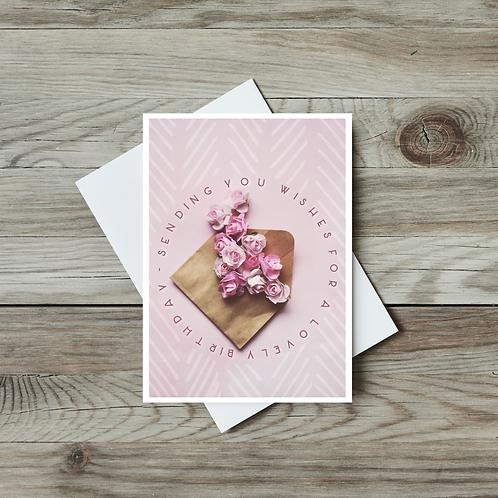 Paper Roses Birthday Card - Paper Birch Art