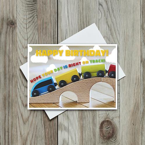 Kids' Train Birthday Card - Paper Birch Art