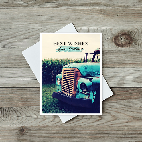 Rustic Pickup Truck Card - Father's Day Card