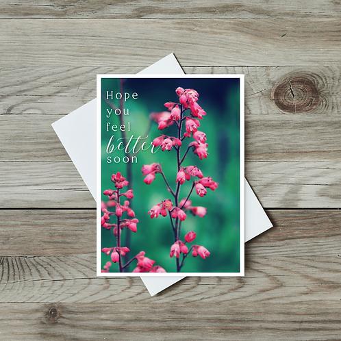 Hope You Feel Better Soon Card - Paper Birch Art