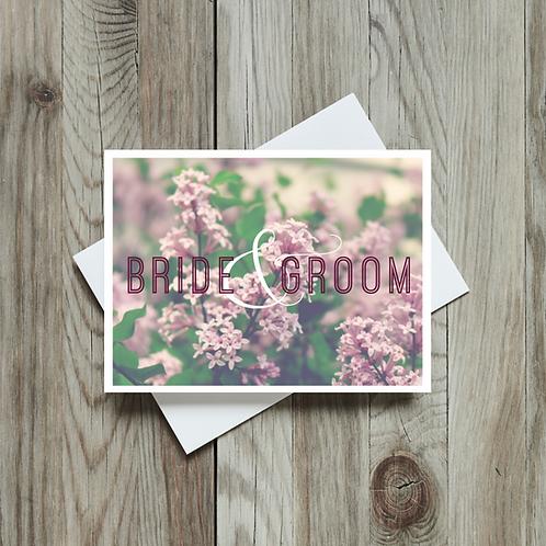 Bride and Groom Wedding Card - Paper Birch Art