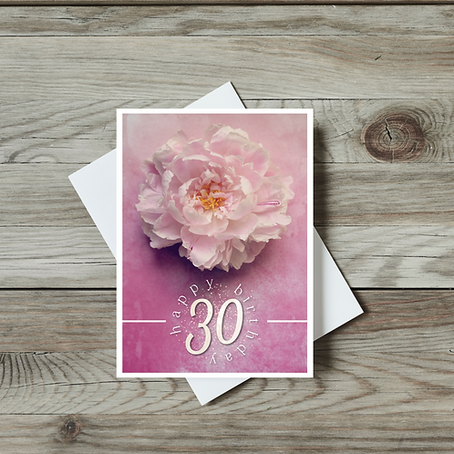 30th, 40th, 50th and 60th Birthday Cards - Paper Birch Art