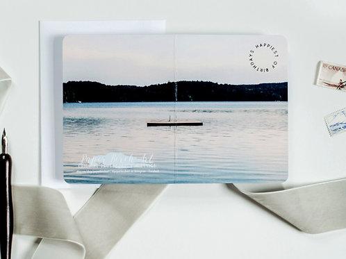 Muskoka Happy Birthday Continuous Photograph Card - Paper Birch Art