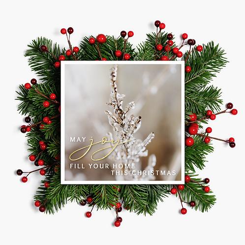 Joy Christmas Card - Paper Birch Art