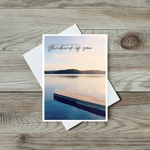 A Note to Say We're Thinking of You Card - Paper Birch Art