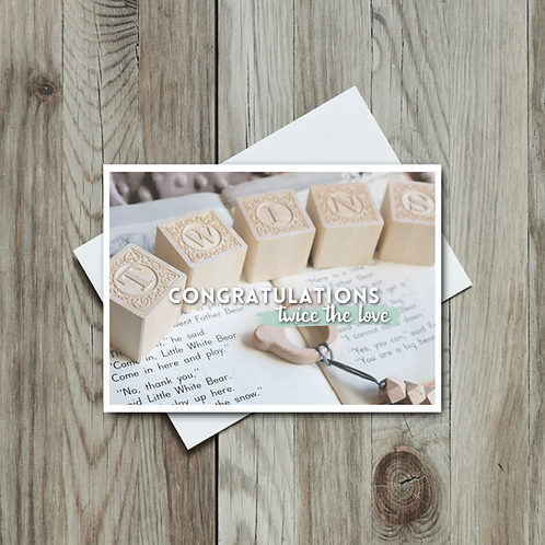 Twins Greeting Card- Baby - Paper Birch Art