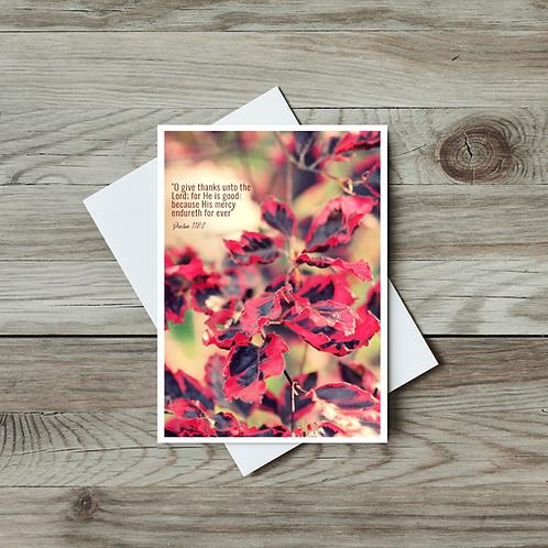 Christian Greeting Card Psalm 118 - Paper Birch Art