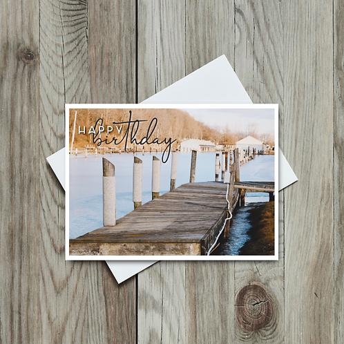 Harbour Birthday Card - Paper Birch Art