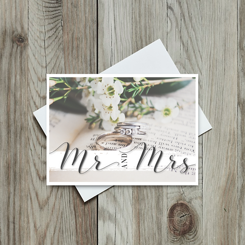 To the Mr. and Mrs. Wedding Card - Paper Birch Art