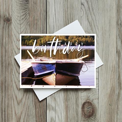 Boat Happy Birthday Card - Paper Birch Art