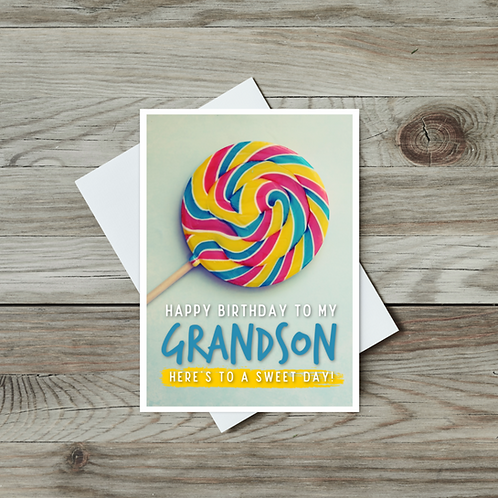 Grandson Birthday Card - Paper Birch Art