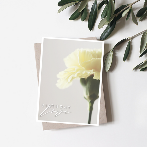 Birthday Love Card - Paper Birch Art