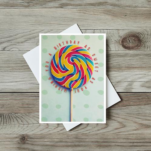 Lollipop Birthday Card - Paper Birch Art