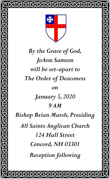JoAnn Samson Order of  Deaconess single.