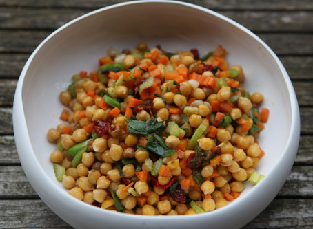 Pois chiches et petits légumes à la marocaine