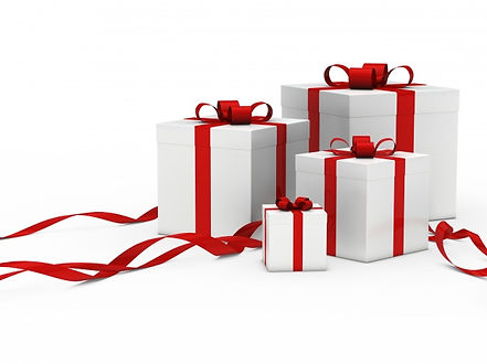 ribbons on presents