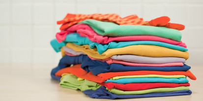 pile of folded clothes