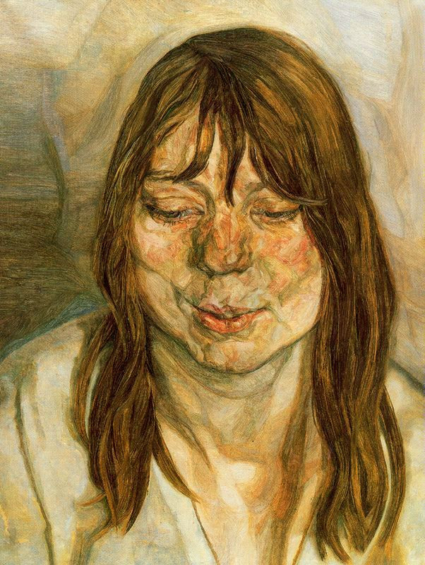 Lucian Freud - Woman Smiling