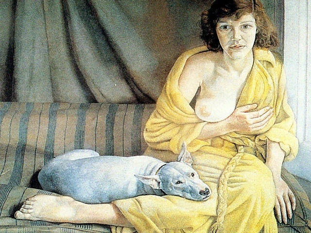 Lucian Freud - Girl With a Dog