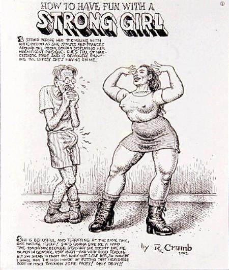 Robert Crumb Strong Girl
