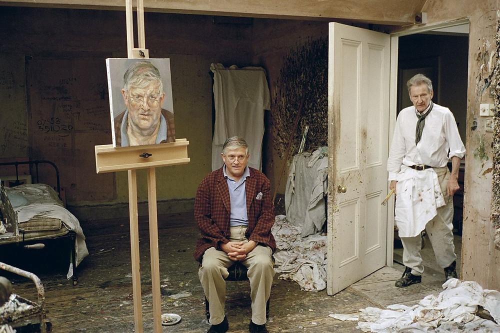 Lucian Freud em seu ateliê