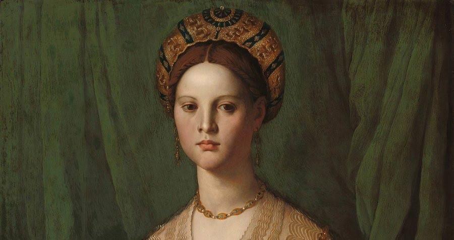 pintura antiga de dama palaciana