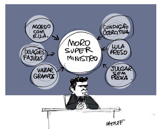 """O """"Super Ministro"""" por Laerte"""