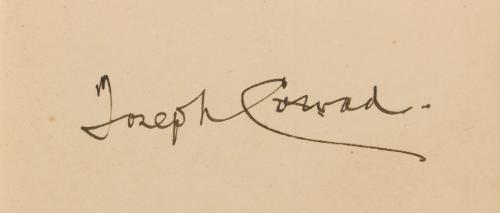 Assinatura de Joseph Conrad