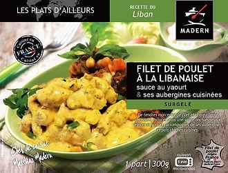 Poulet à la libanaise sauce au yaourt et ses aubergines cuisinées