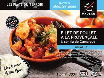 Filet de poulet à la provençale et son riz de camargue
