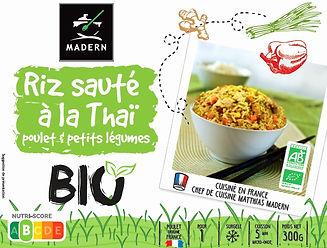Riz sauté à la Thaï poulet et petits légumes BIO