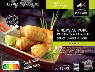 Nems au porc parfumés à la menthe et sa sauce sweet and sour