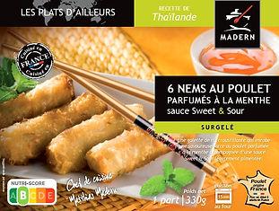 Nems au poulet parfumés à la menthe et sa sauce sweet and sour