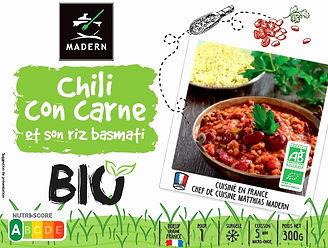 Chili con carne et son riz basmati BIO