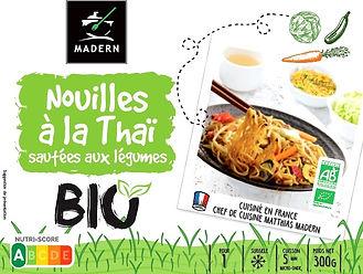 Nouilles à la Thaï sautées aux légumes BIO