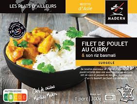 Poulet au curry et son riz basmati