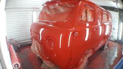 УАЗ 452 процесс окраски