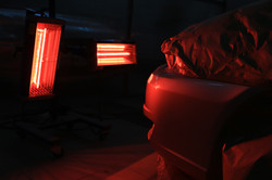 Сушка бампера ИК лампой