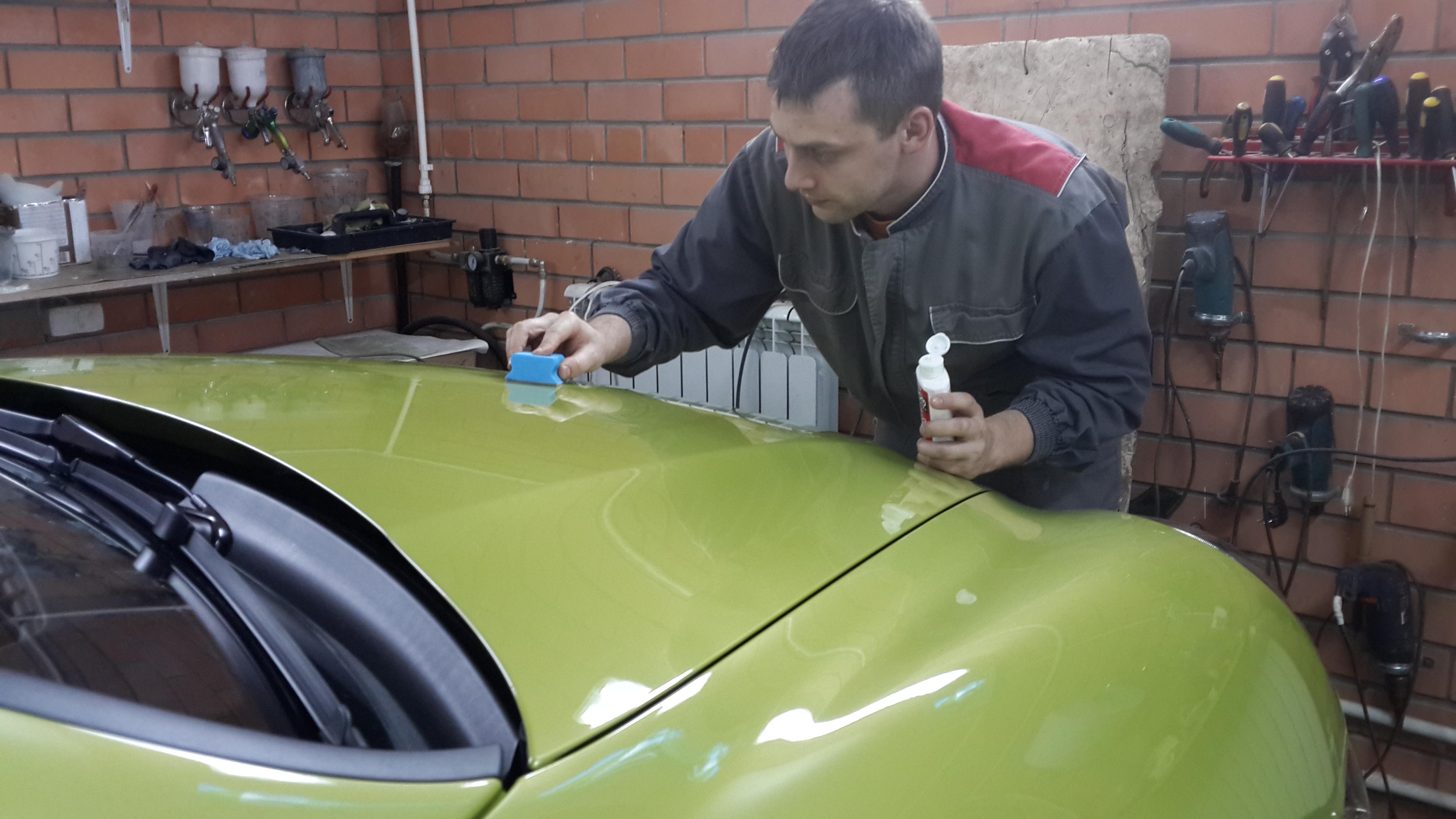 Подготовка к полировке кузова
