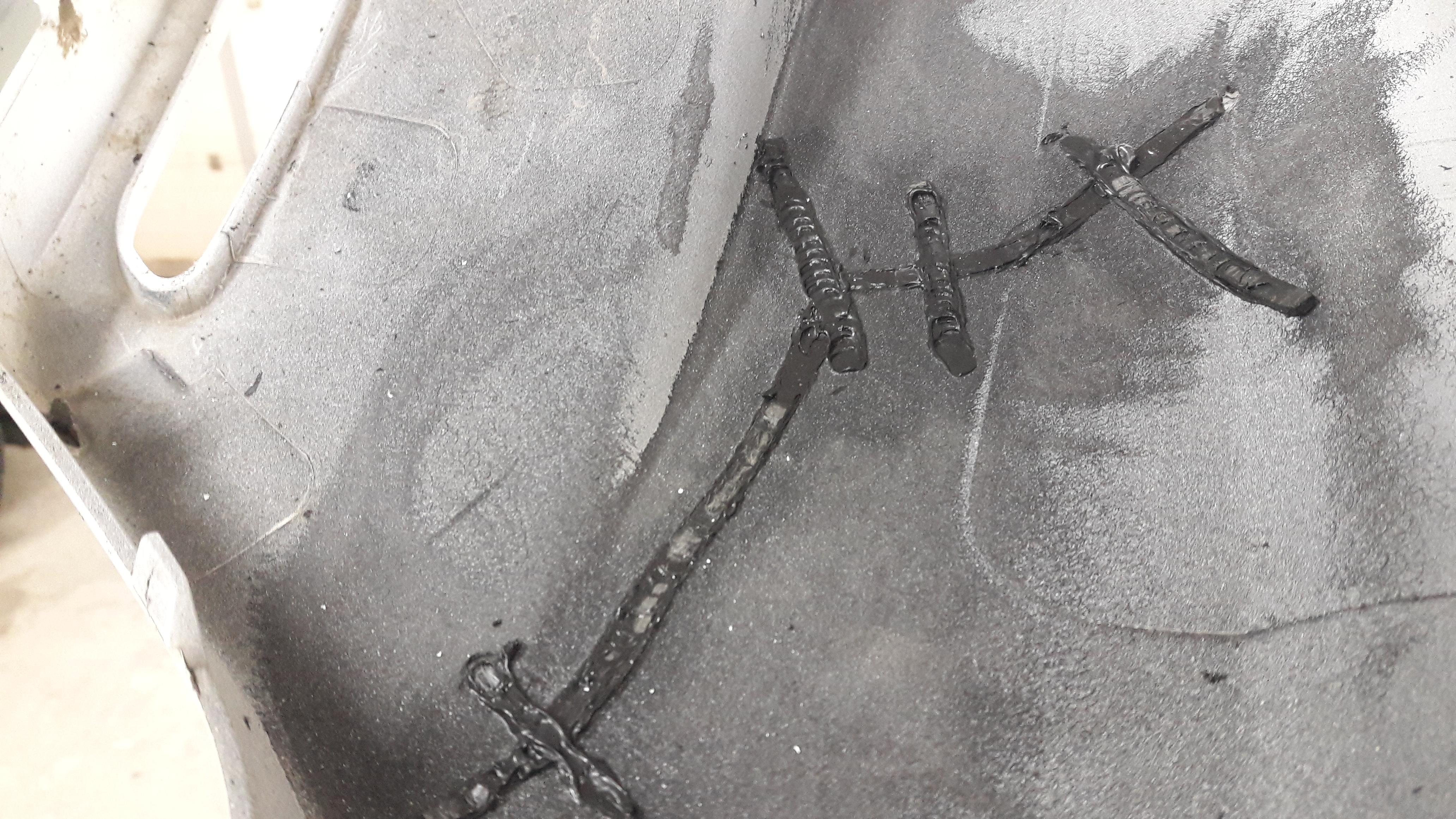 Внутренний шов после пропайки