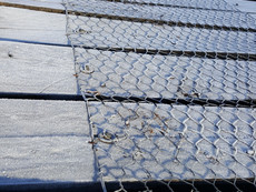 Winter frost on bridge