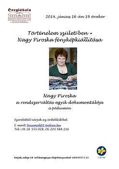 Nagy Piroska fényképkiállítása Linum Alapitvany - Történelem Születőben 2014