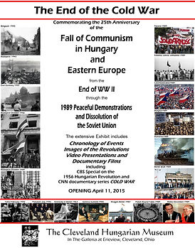 Fall of Communism in Hungary exhibition flyer poster Piroska Nagy Cleveland Hungarian Museum 2015