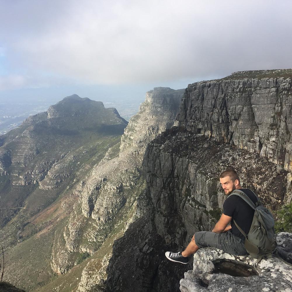 William enjoying the view on 365 Ubuntu Climbs Hike 185
