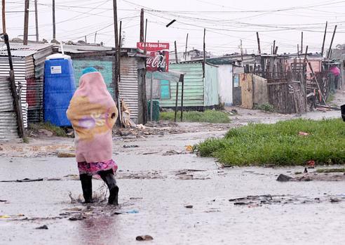 drowned shacks