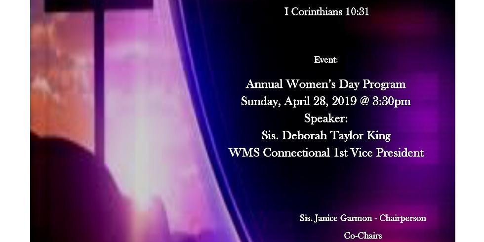 Emmanuel A.M.E. Church Women's Day Program