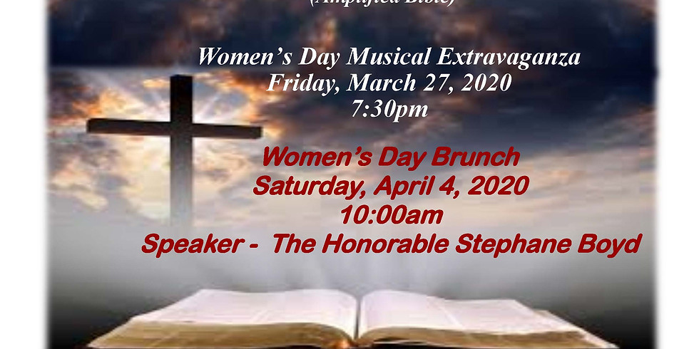 (POSTPONED) Emmanuel African Methodist Episcopal Church Annual Women's Day 2020